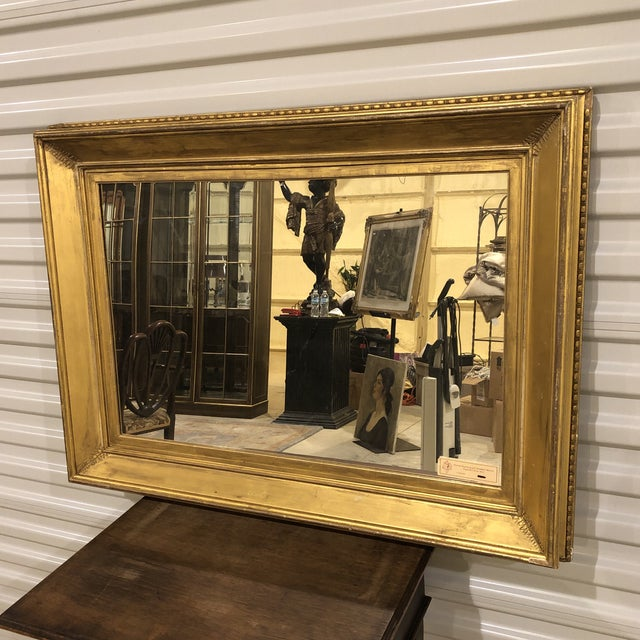 19th Century Regency Period Frame Mirror Ivy Frond Corners For Sale - Image 6 of 6