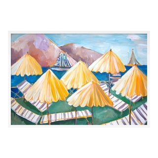 Cabana 1 by Lulu DK in White Framed Paper, Large Art Print
