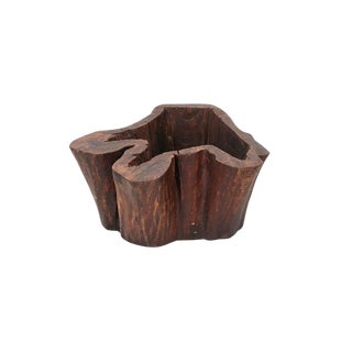 Carved Hollow Stump Coffee Table For Sale