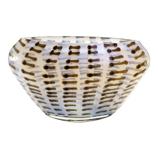 Evolution by Waterford Opal & Amber Oval Centerpiece Vase For Sale
