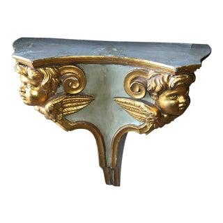 Antique Venetian Gilded Putti Wall Shelf For Sale