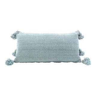 Moroccan Wool Pom Pom Pillow For Sale
