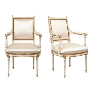 Pair of Louis XVI Style Armchairs in the Manner of Maison Jansen For Sale