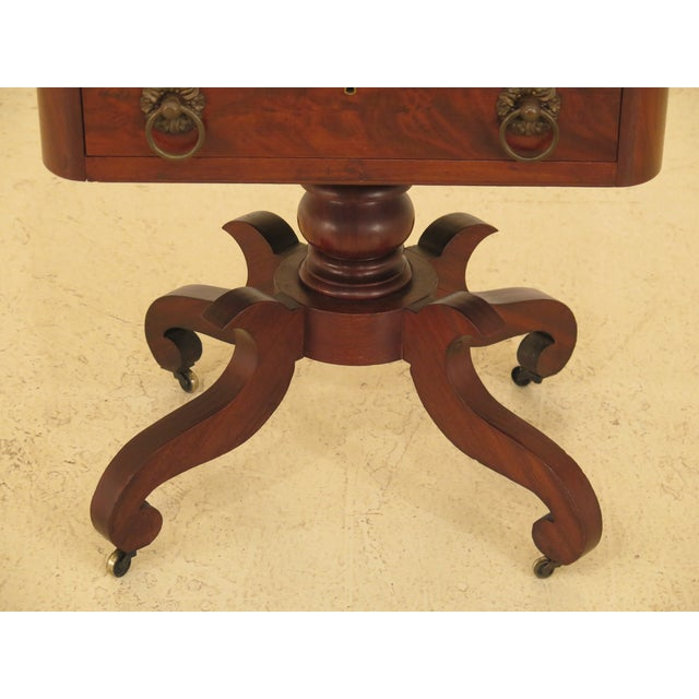 Traditional Traditional Antique Duncan Phyfe Mahogany Serving Work Table For Sale - Image 3 of 13