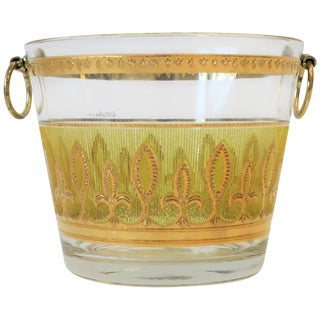 Vintage Designer Yellow and 22-Karat Gold Ice Bucket, Circa 1960s For Sale