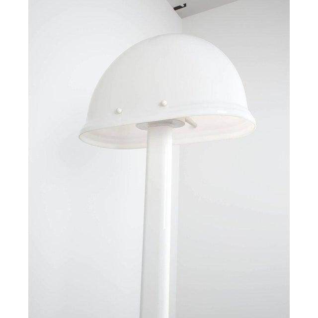 Rodolfo Bonetto White Metal Lucite Floor Lamp Guzzini, Italy, 1970 For Sale - Image 6 of 9