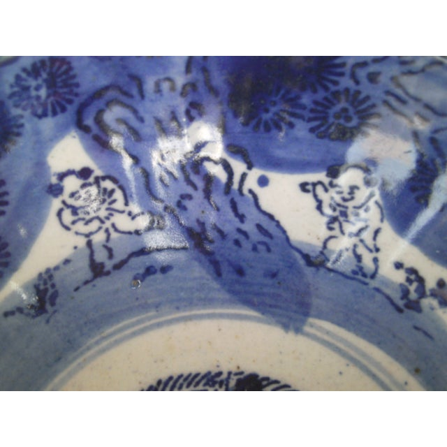 19th Century Blue & White Oriental Bowl - Image 6 of 9