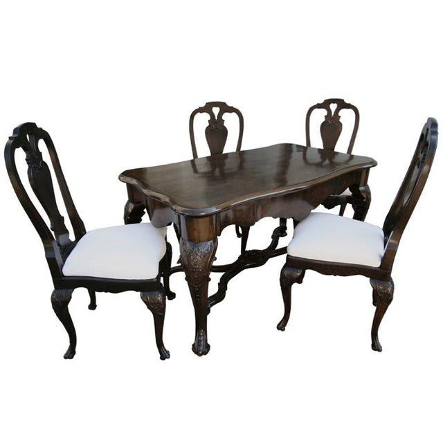 19th Century Dutch Library Desk Table and Chairs Set For Sale - Image 9 of 9