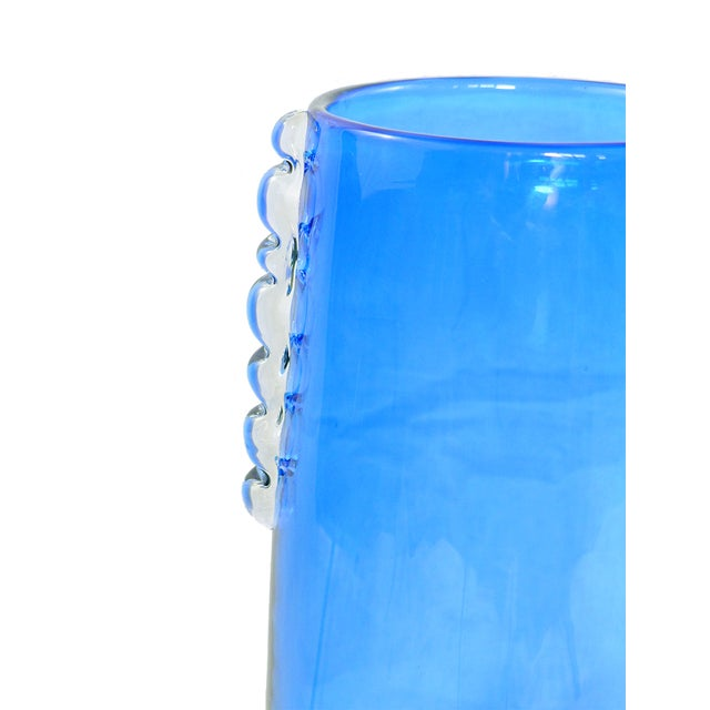 Extra Large Vintage Blue Blenko Vase - Image 3 of 4