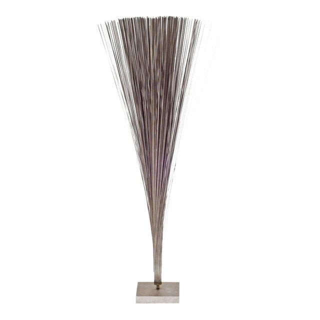 """Harry Bertoia Early Stainless Steel """"spray"""" Sculpture, Usa, 1960s For Sale"""