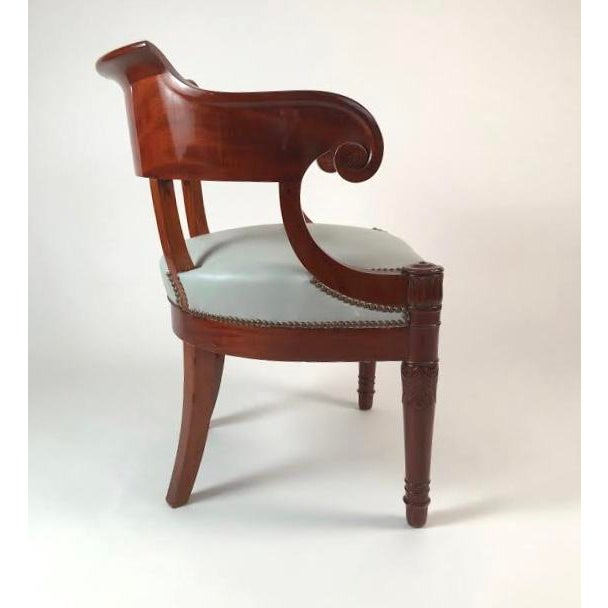 Traditional 19th Century French Empire Period Mahogany Armchair For Sale - Image 3 of 12