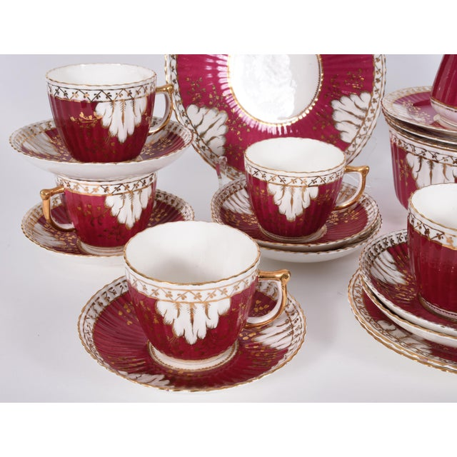 Vintage English Porcelain Luncheon Service - 27 Pc. Set For Sale - Image 10 of 13