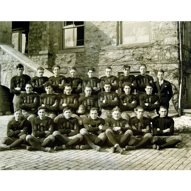 Traditional Antique 1915 Pennsylvania Football Team Photograph For Sale - Image 3 of 3
