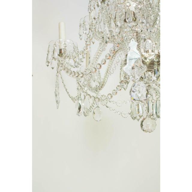 Martinez y Ortz Crystal Chandelier For Sale - Image 4 of 9