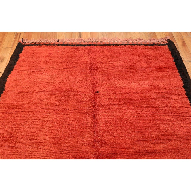Room Size Vintage Moroccan Rug - 5′3″ × 9′ For Sale In New York - Image 6 of 9