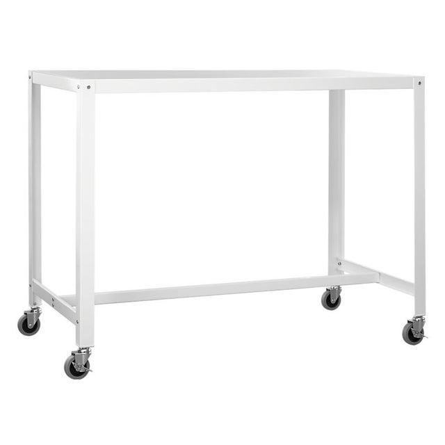 CB2 Go-Cart White Rolling Desk For Sale