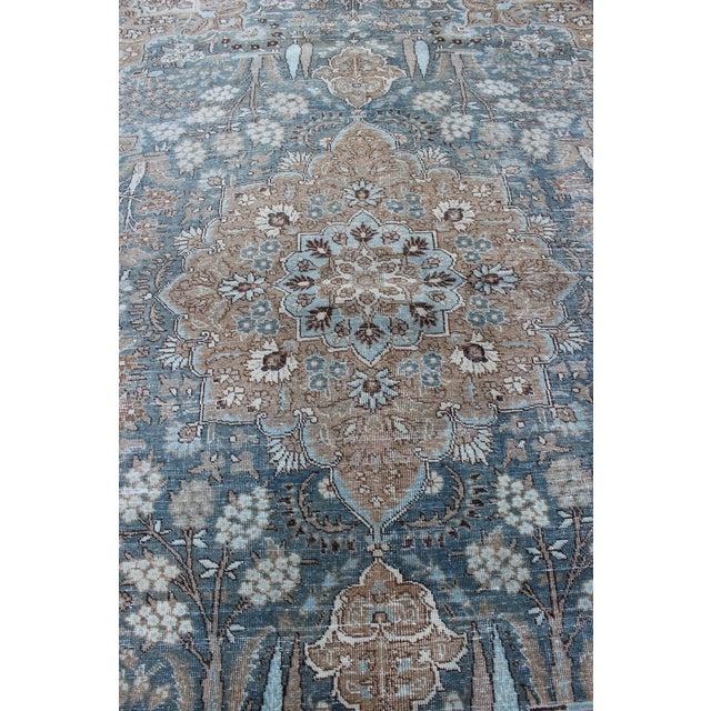 """1930's Vintage Tabriz Wool Rug-7'x10"""" For Sale - Image 4 of 9"""