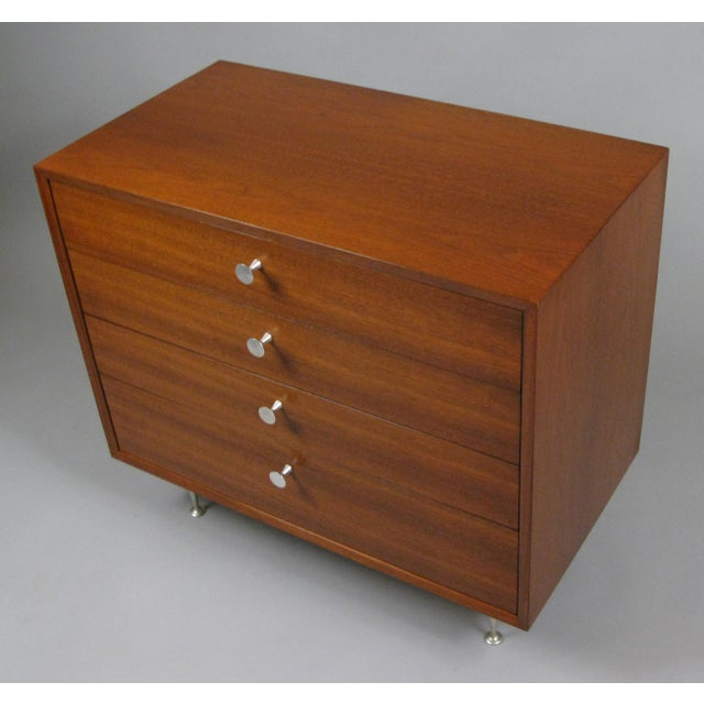 Mid-Century Modern Walnut & Aluminum Chest by George Nelson for Herman Miller For Sale - Image 3 of 7