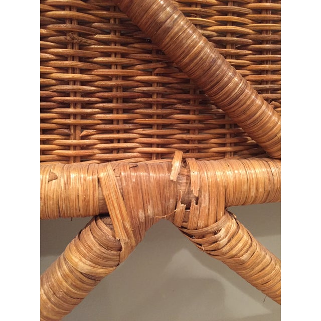 1960s Boho Chic Twin Wicker Rattan Headboards - a Pair For Sale - Image 6 of 8