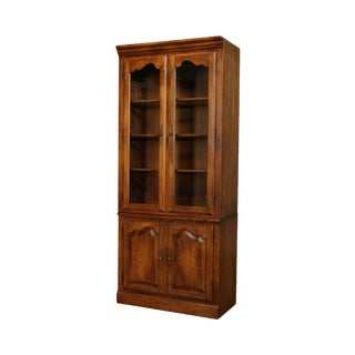 Ethan Allen Country French Curio Bookcase Cabinet For Sale