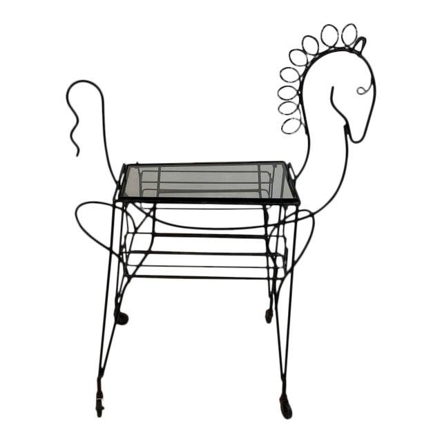 Frederick Weinberg Horse Bar Cart For Sale