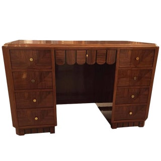 French Art Deco Desk With Secretary Table For Sale