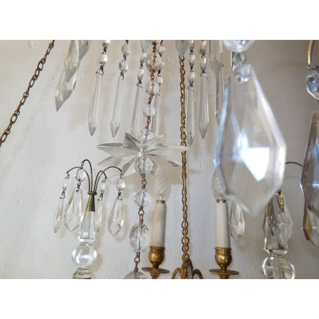 19th Century French Neoclassical Crystal and Bronze Chandelier with Spears For Sale - Image 9 of 11