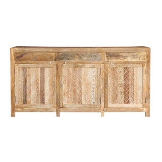 Shabby Chic Moorish Carved Credenza For Sale