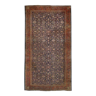 Antique Sultanabad Gallery Rug with Modern Style