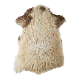 "Contemporary Hand-Tanned Sheepskin Pelt Rug - 2'2""x3'4"" For Sale"