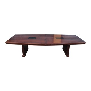 Cherry Conference Table With Dual Power & Media Bays