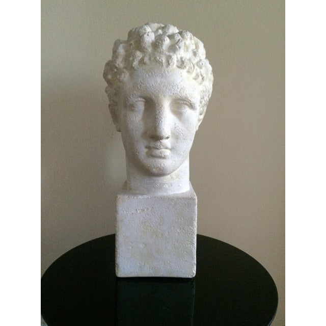 Neoclassical Lifesize Plaster Bust of Hermes For Sale - Image 3 of 11