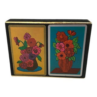 Vintage Congress Botanical Playing Cards - Double Deck For Sale