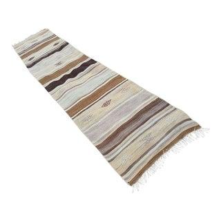 1970s Vintage Turkish Wool Runner Rug - 2′4″ × 10′10″ For Sale