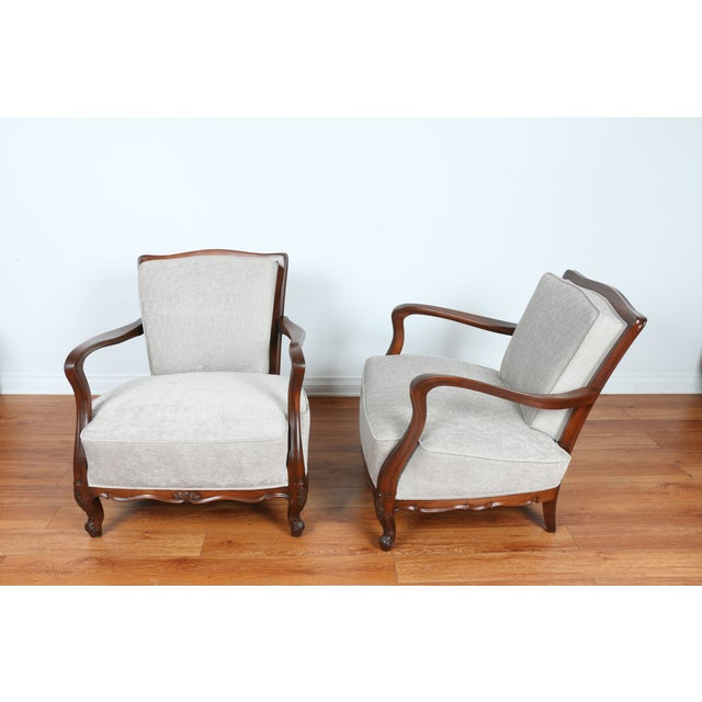 1940's Reupholstered Chair - Pair - Image 4 of 11