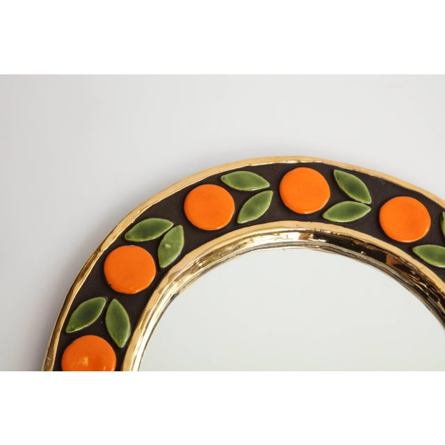 Mid 20th Century Mirror by Francois Lembo For Sale - Image 5 of 6