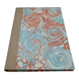 Italian Style Marbled Paper Notebook For Sale