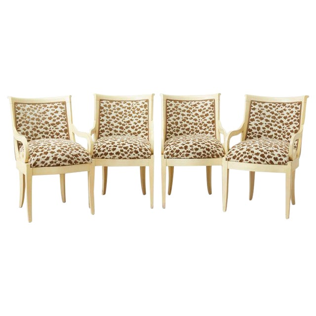 Set of Four Regency Style Lacquered Dining or Armchairs For Sale
