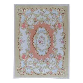 "Pasargad Aubusson Hand-Woven Wool Rug- 8' 2"" X 10' 1"" For Sale"