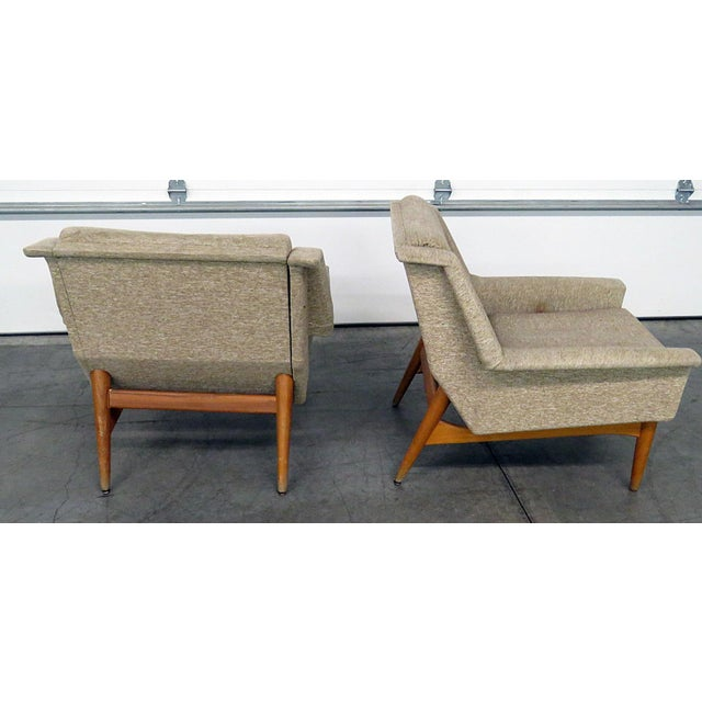 1970s Pair of Danish Modern Lounge Chairs For Sale - Image 5 of 9