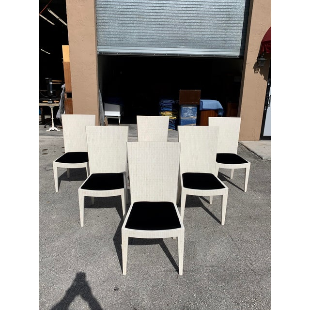 1970s Enrique Garcel Tessellated Bone Dining Chairs - Set of 6 For Sale - Image 13 of 13