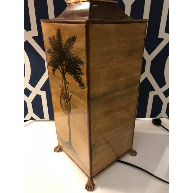 Vintage Palm Tree With Coat of Arms Table Lamp For Sale In West Palm - Image 6 of 8