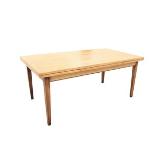 Traditional Custom Expandable Maple Dining Table For Sale
