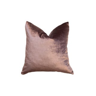 Made in Usa Luxe Velvet Throw Pillow For Sale
