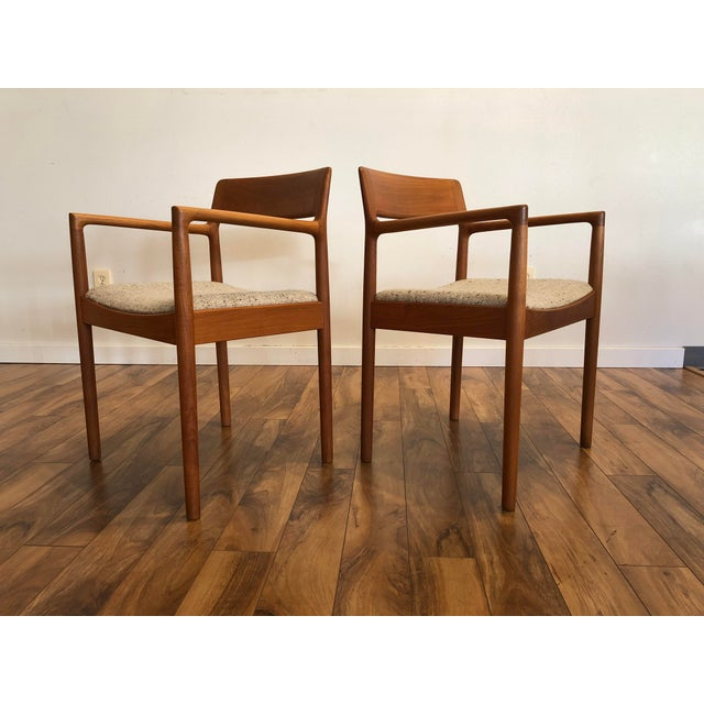Mid-Century Norgaard Teak Arm Chairs, Made in Denmark, a Pair For Sale - Image 13 of 13