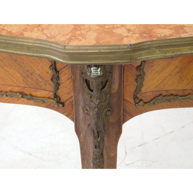 Antique Louis XV Style Bronze Mounted Center Table - Image 4 of 6