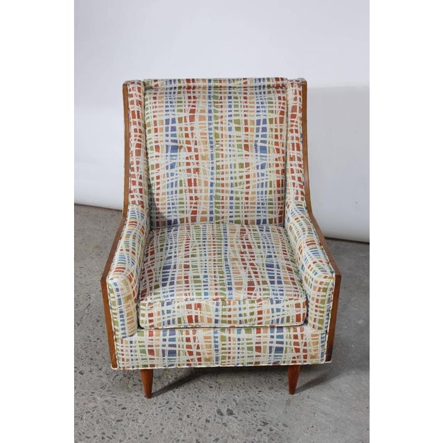 Mid-Century American Modern Lounge Chair with Walnut Border - Image 3 of 9