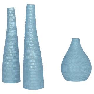1950s Danish Modern Stig Lindberg Serpentine Vases - Set of 3 For Sale