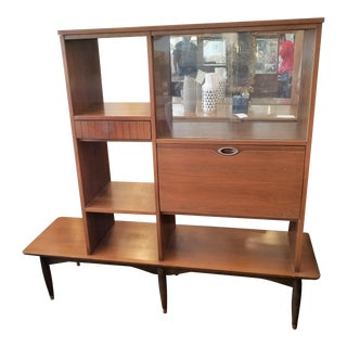 "20th Century Danish Modern ""Mainline"" by Hooker Bar Cabinet/Bookcase Cabinet For Sale"