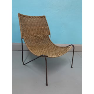 Mid-Century Modern Frederick Weinberg Wicker & Wrought Iron Lounge Chair Preview